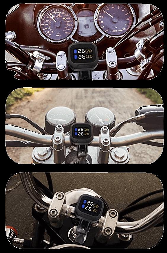 KDator Motorrad Reifendruckkontrollsystem Test