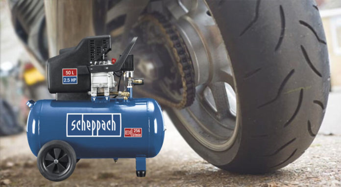 Motorradreifen Kompressor Test