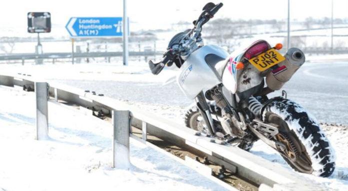 Motorradreifen für den Winter