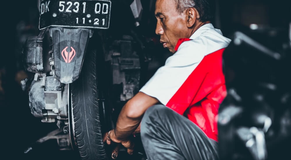 Anleitung Motorradreifen Montage