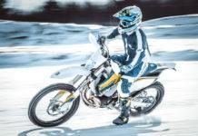 Motorradreifen im Winter